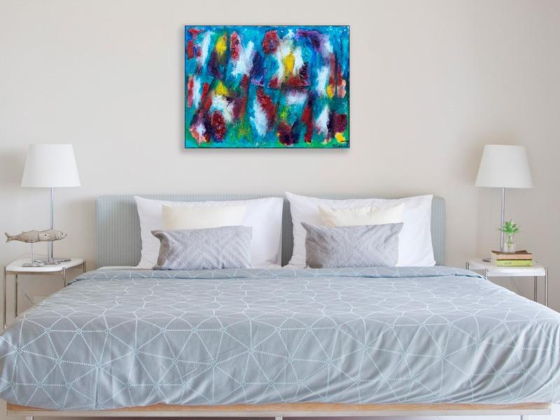 Akryl malerier med stor dybde - Horizon II 80x60 cm