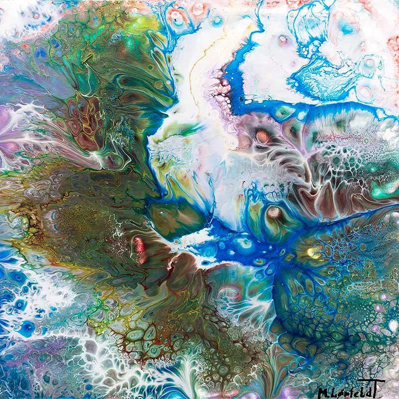 Malerier til salg Evolution I 40x40 cm