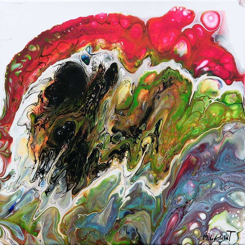 Køb malerier online Evolve I 30x30 cm
