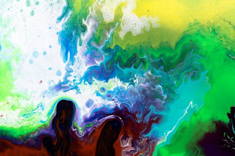 Farverige store malerier - Deflection 80x180 cm