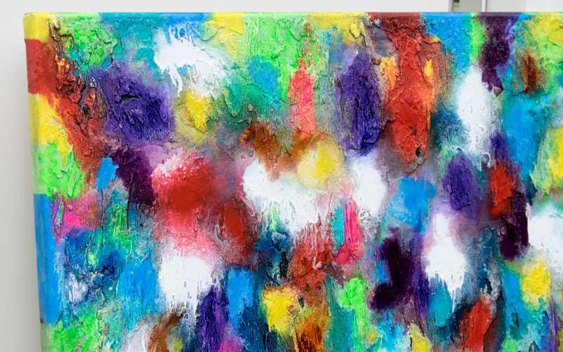 Flot maleri med dejlige farver - Alteration III 80x60 cm