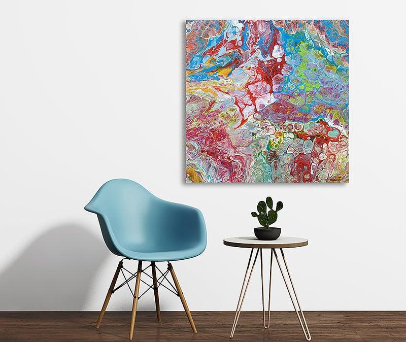 Malerier til dien vægge - Emotions I 60x60 cm