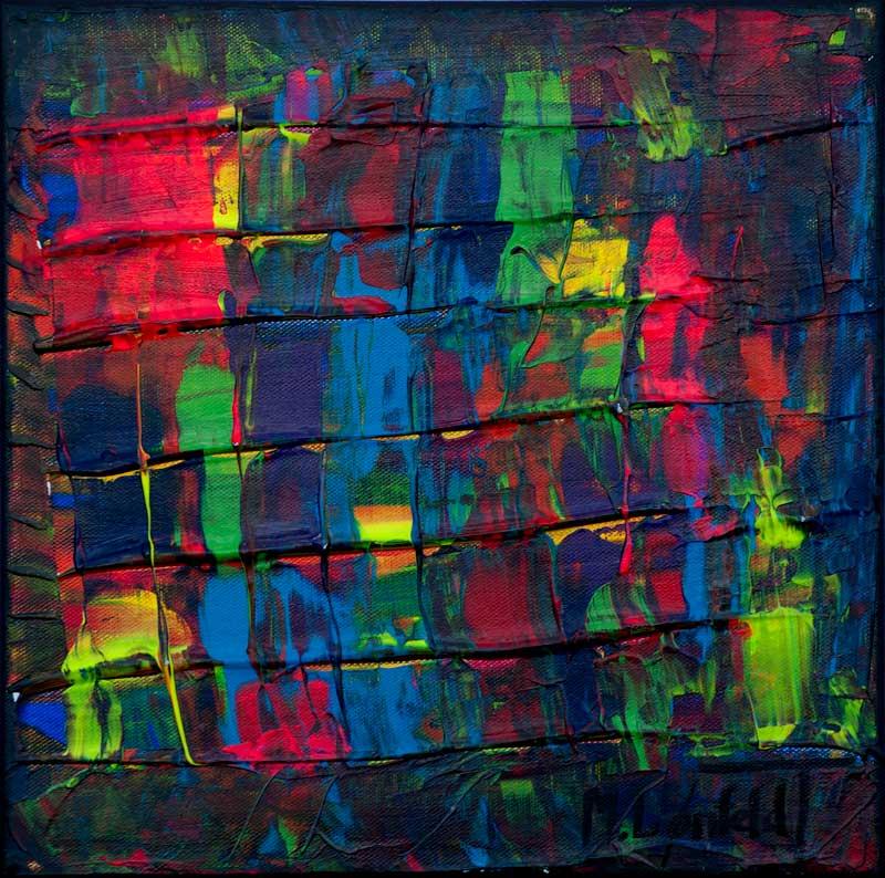 små abstrakte malerier og billeder er flot unik kunst til vægene i dit hjem - Mini Abstracts XXI 30x30 cm