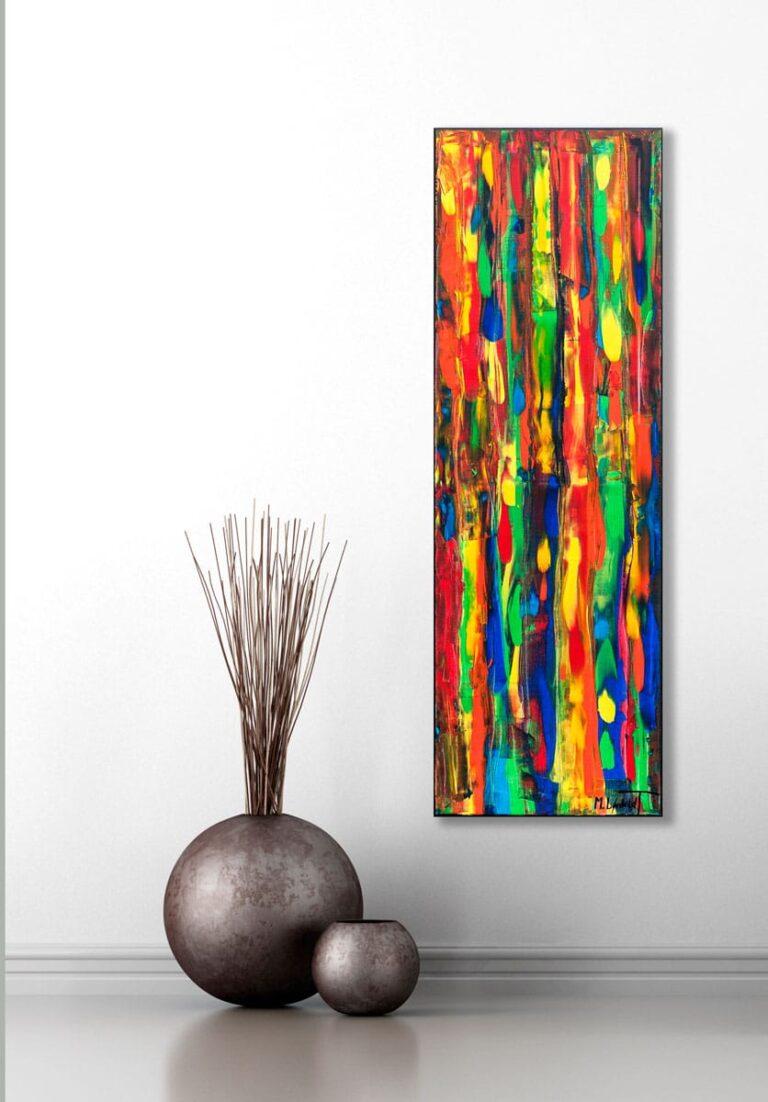 Moderne billede til stuen - Tribal Colors III 120x40 cm