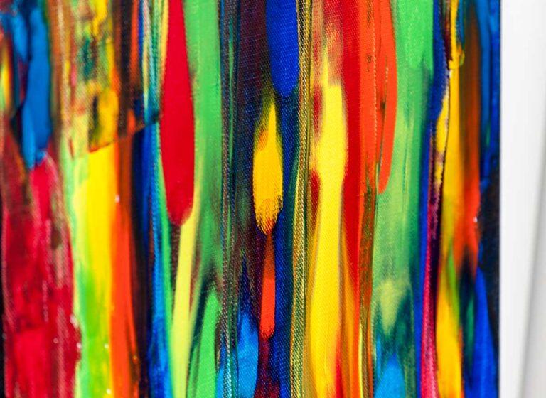 Moderne maleri i kraftige farver - Tribal Colors III 120x40 cm