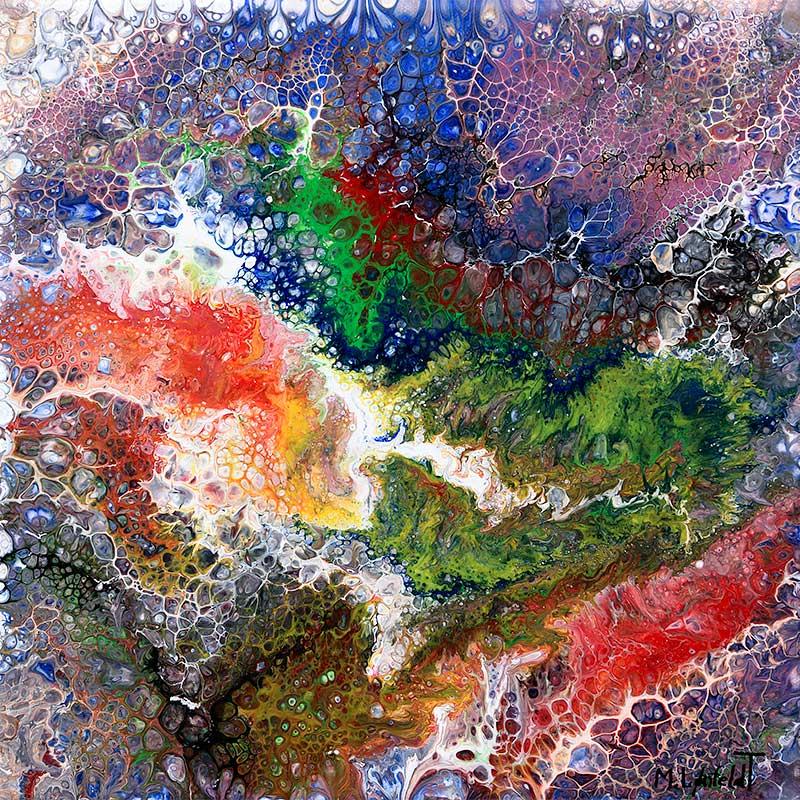 Køb malerier online Native I 30x30 cm