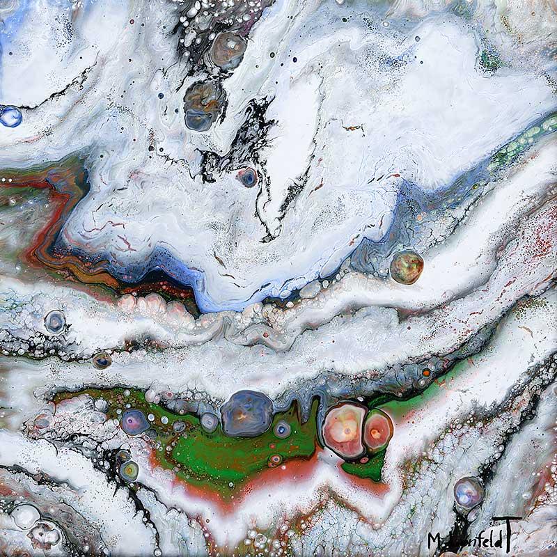 Online galleri farverigt maleri Origin I 30x30 cm