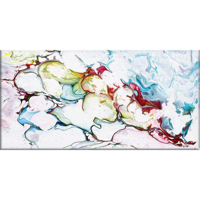Abstrakt kunsttryk på lærred i moderne minimalistisk kunst design Outline I 70x140 cm