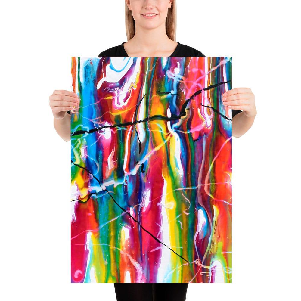 Abstrakte plakater i moderne design og trendy farver Heroic II 50x70 cm