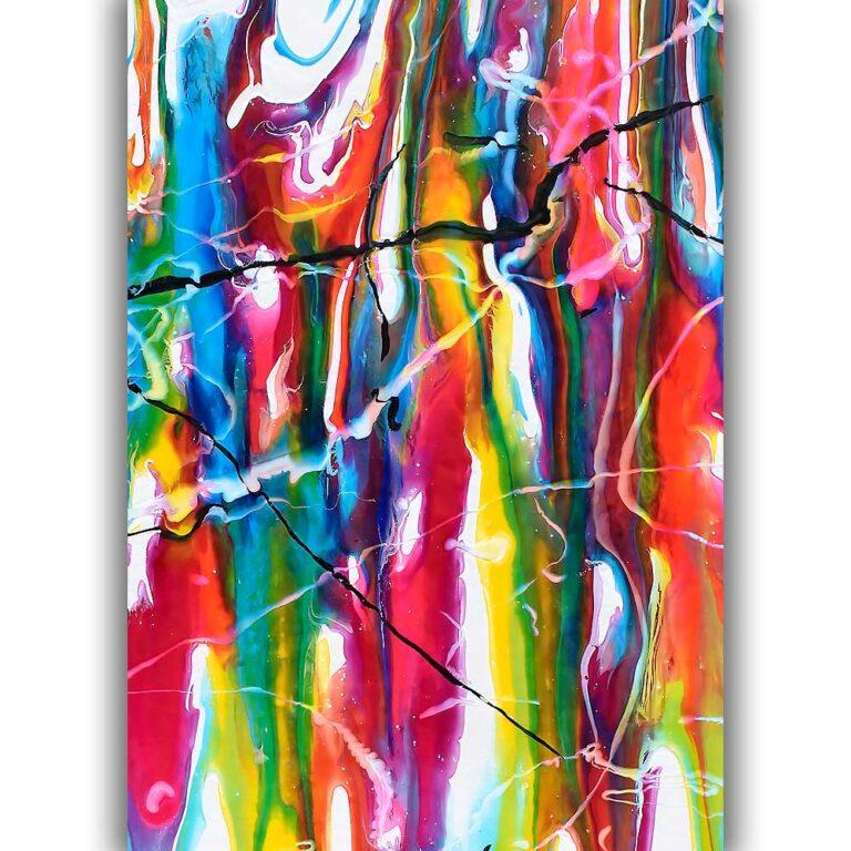 Abstrakte plakater i smukke stærke farver til hjemmet Heroic II