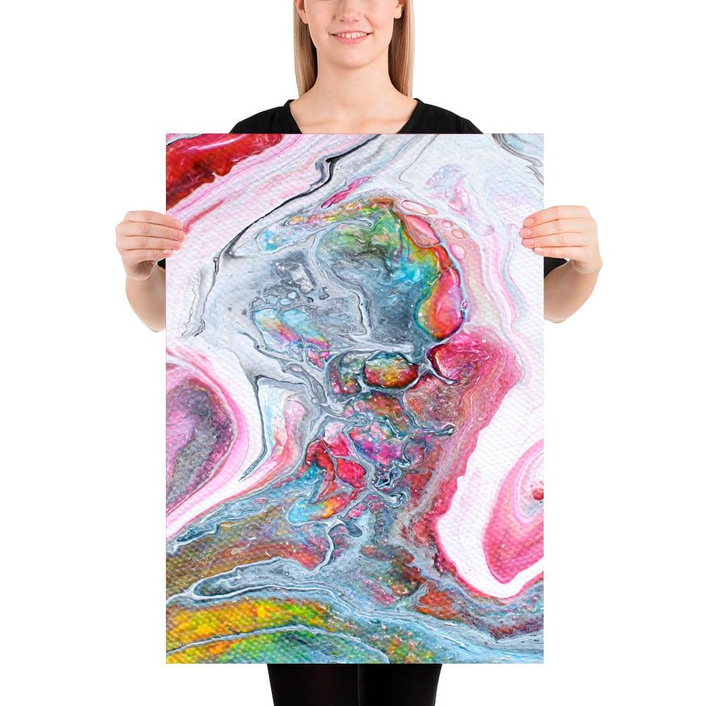 Eksklusivt kunstprint i skønne farver i udsøgt kvalitet Flows II 50x70 cm