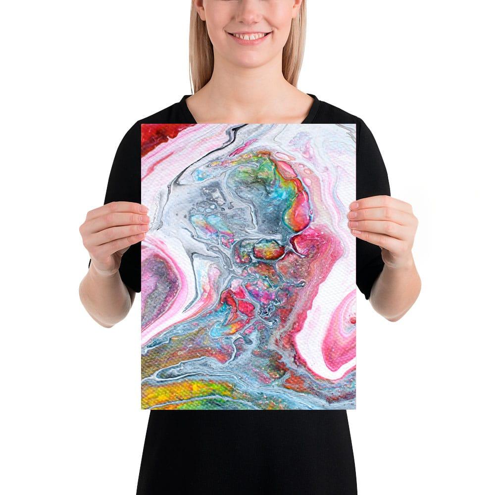 Elegant kunstprint i et tidsløst abstrakt design Flows II 30x40 cm