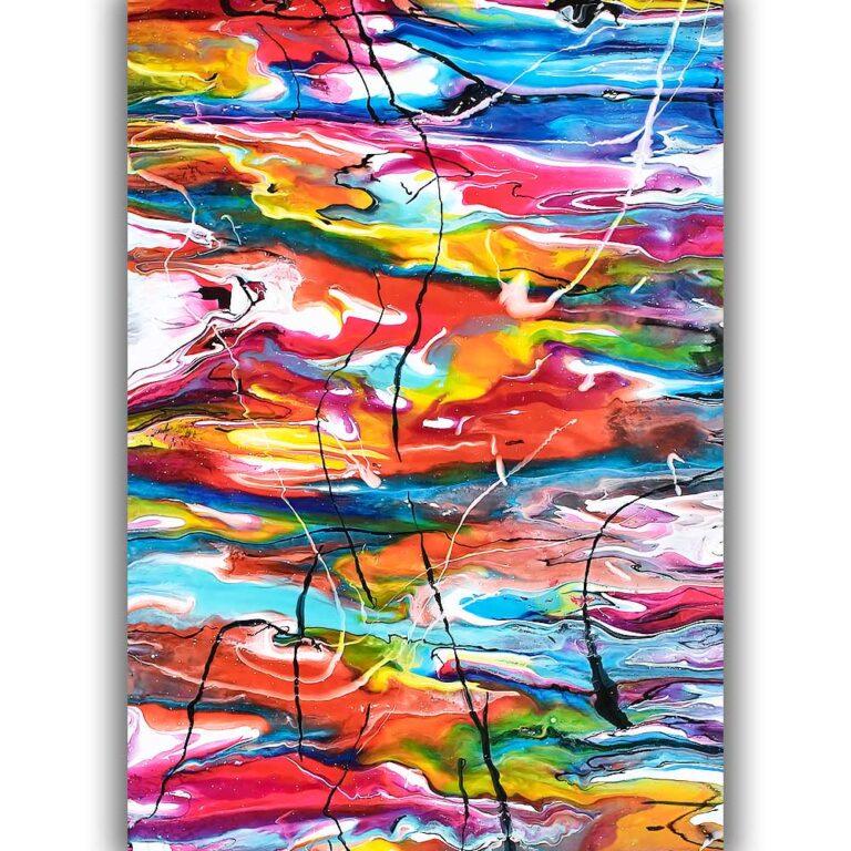 Elegante moderne kunstplakater i skønne farver til væggen Heroic III