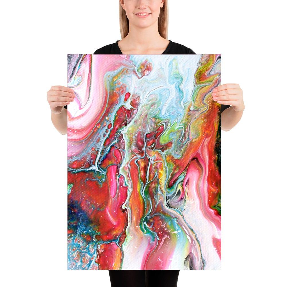 Flot fine art print i moderne farver Flows I 50x70 cm