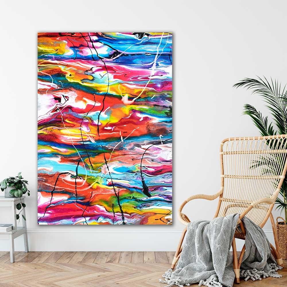 Kæmpe kunstplakater til væggen i hjemmet Heroic III 100x150 cm