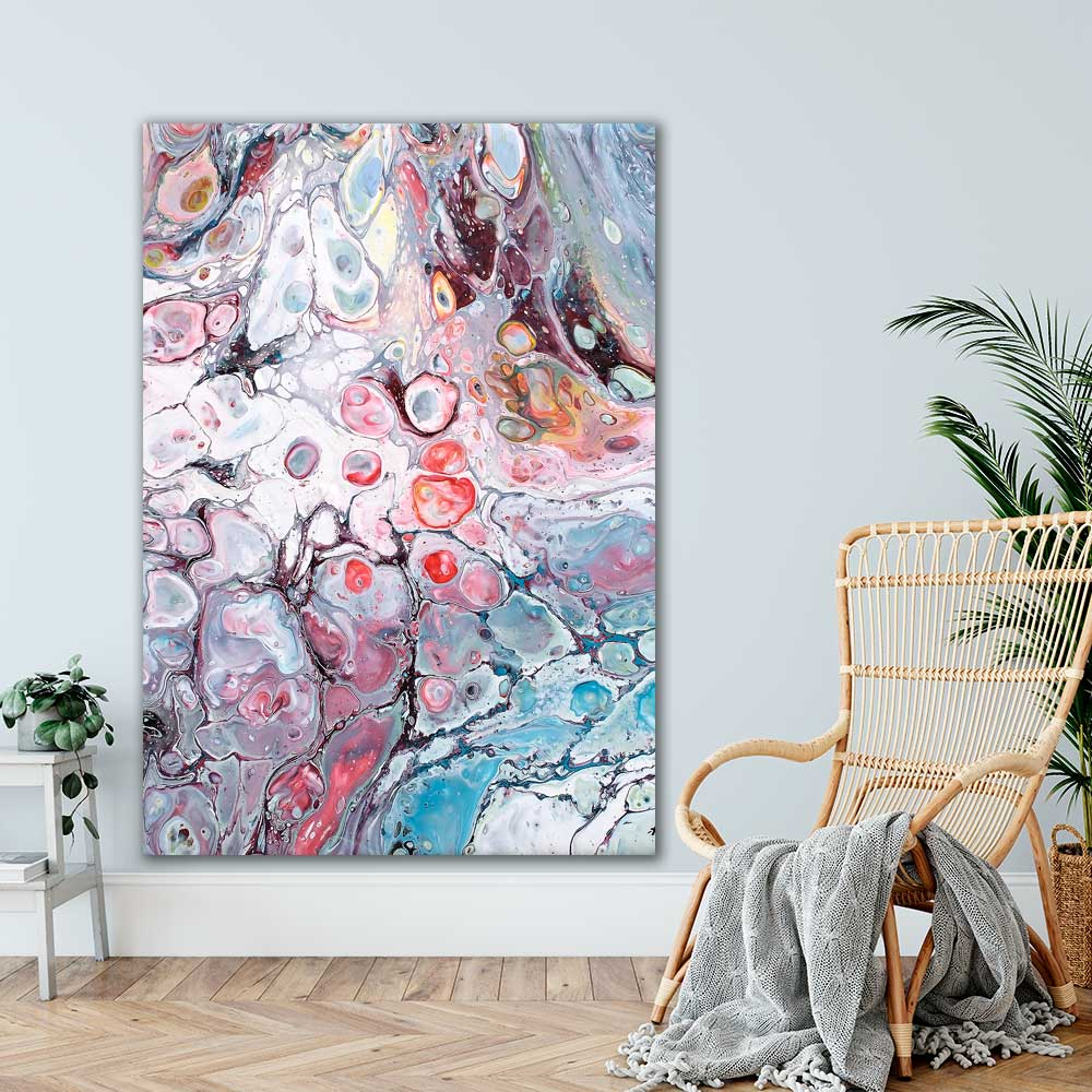 Kæmpe plakat med moderne kunst til stuen Allure I 100x150 cm
