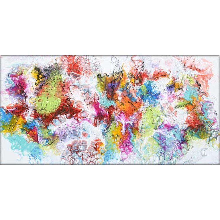 Kunst på lærred er moderne billeder til hjemmet Fusion I 70x140 cm