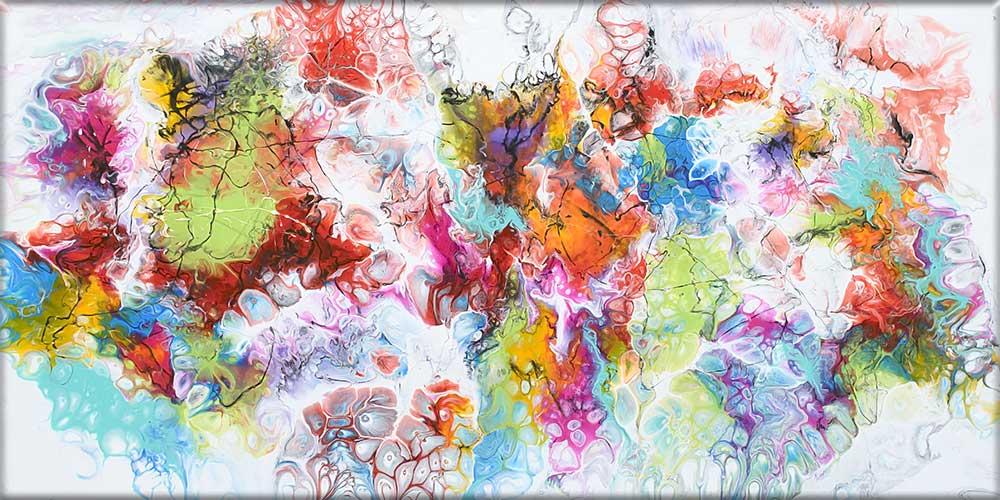 Kunst på lærred er flotte billeder Fusion I 70x140 cm