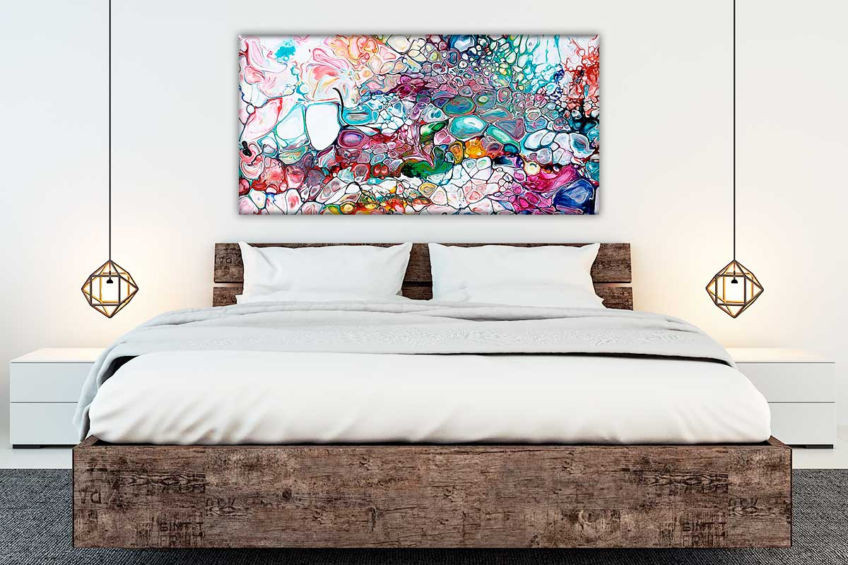 Kunst tryk på lærred er flot vægkunst til dit soveværelse