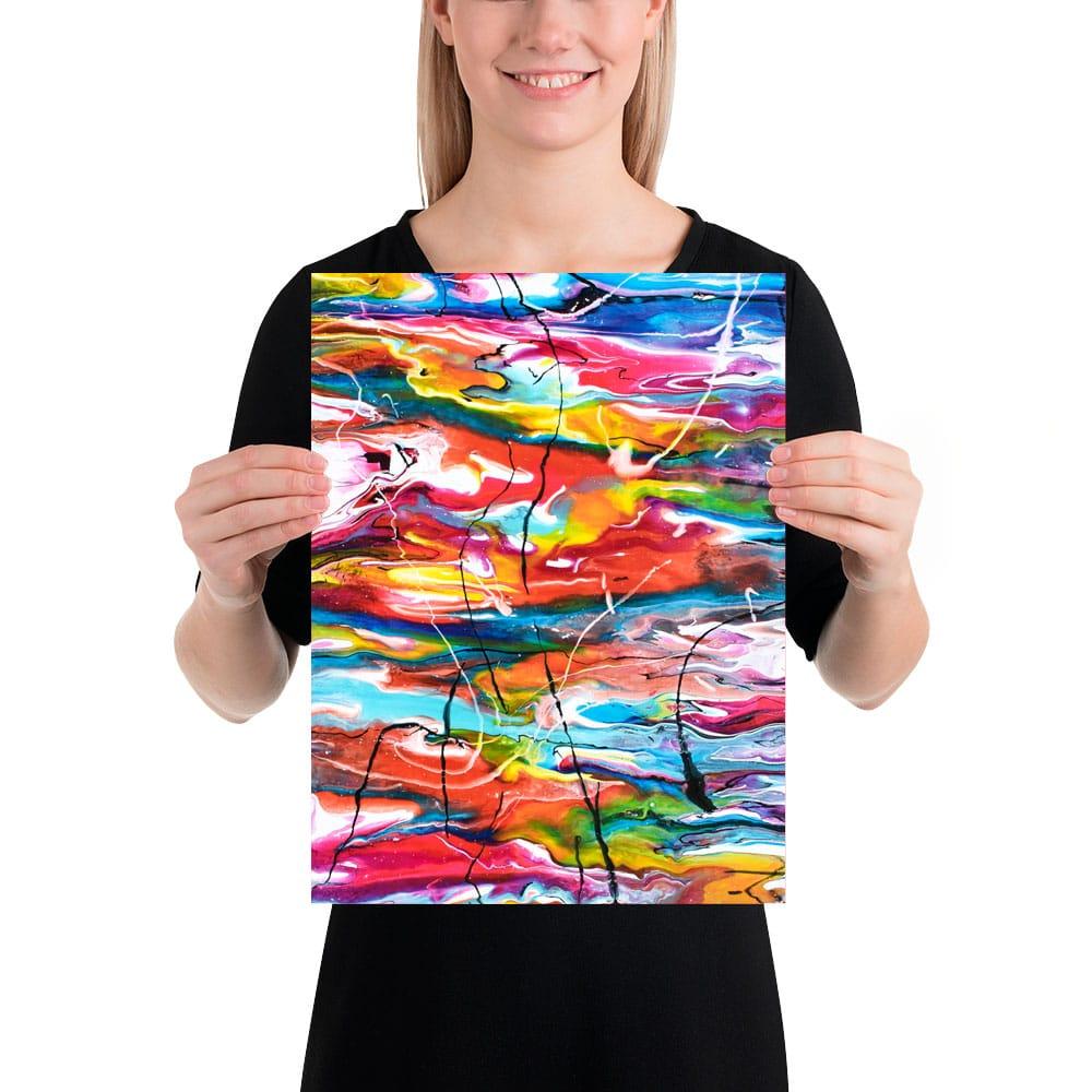 Mindre kunstplakater er perfekte til collager med billeder Heroic III 30x40 cm