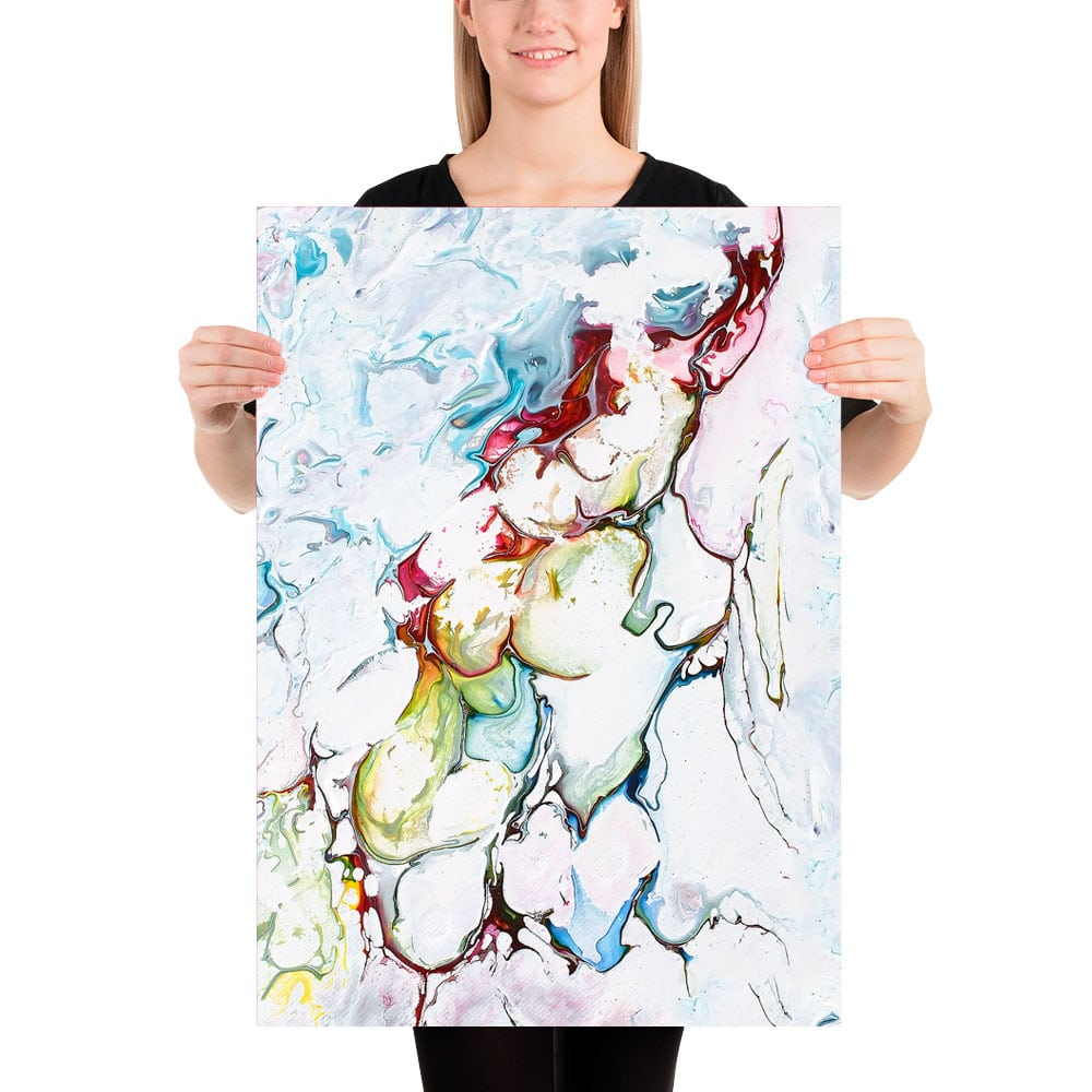 Moderne art print i et klassisk abstrakt design Outline I 50x70 cm