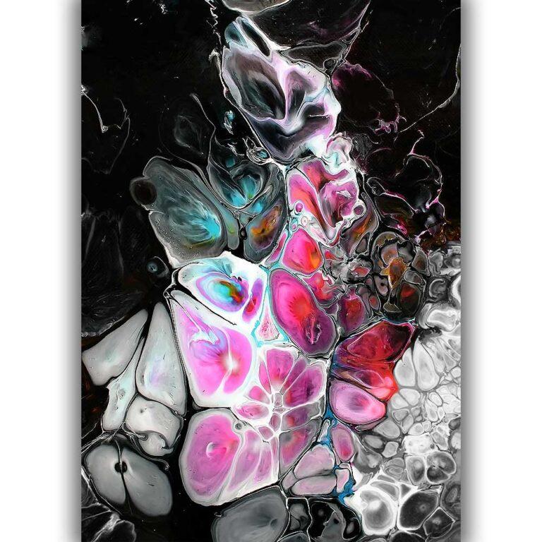 Moderne fine art print med kunstmotiv i trendy farver Lights I