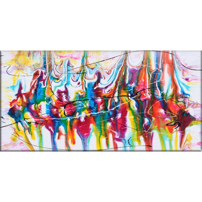 Moderne kunst tryk på lærred i flot elegant design Heroic I 70x140 cm