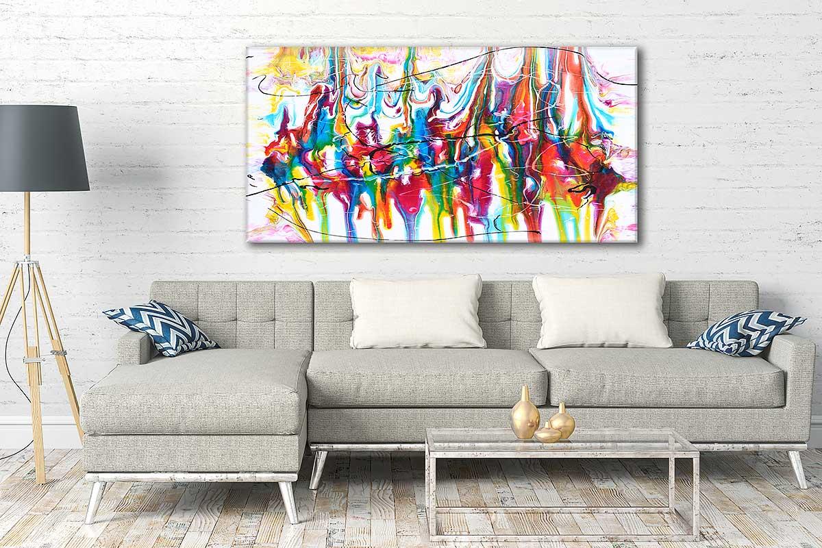 Moderne kunst tryk på lærred til væggene i hjemmet Heroic I 70x140 cm