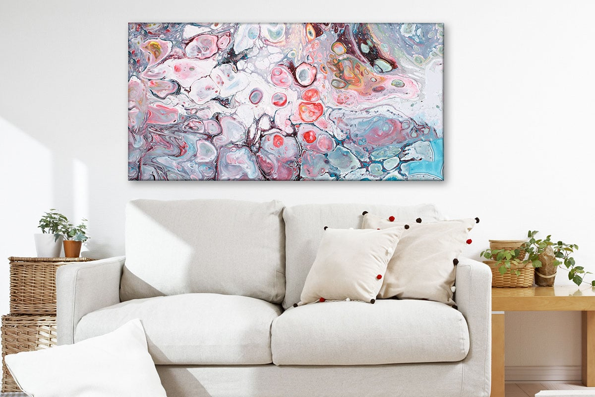 Moderne lærredsbillede i en eksklusiv kvalitet til boligen Allure I 70x140 cm