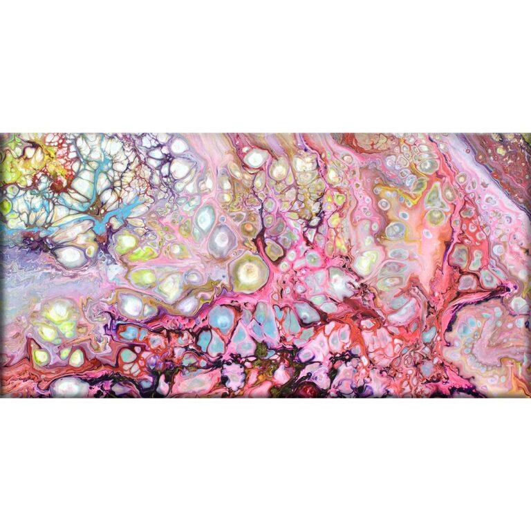 Moderne lærredstryk af maleri med kunstdesign og flotte detaljer Passion I 70x140 cm