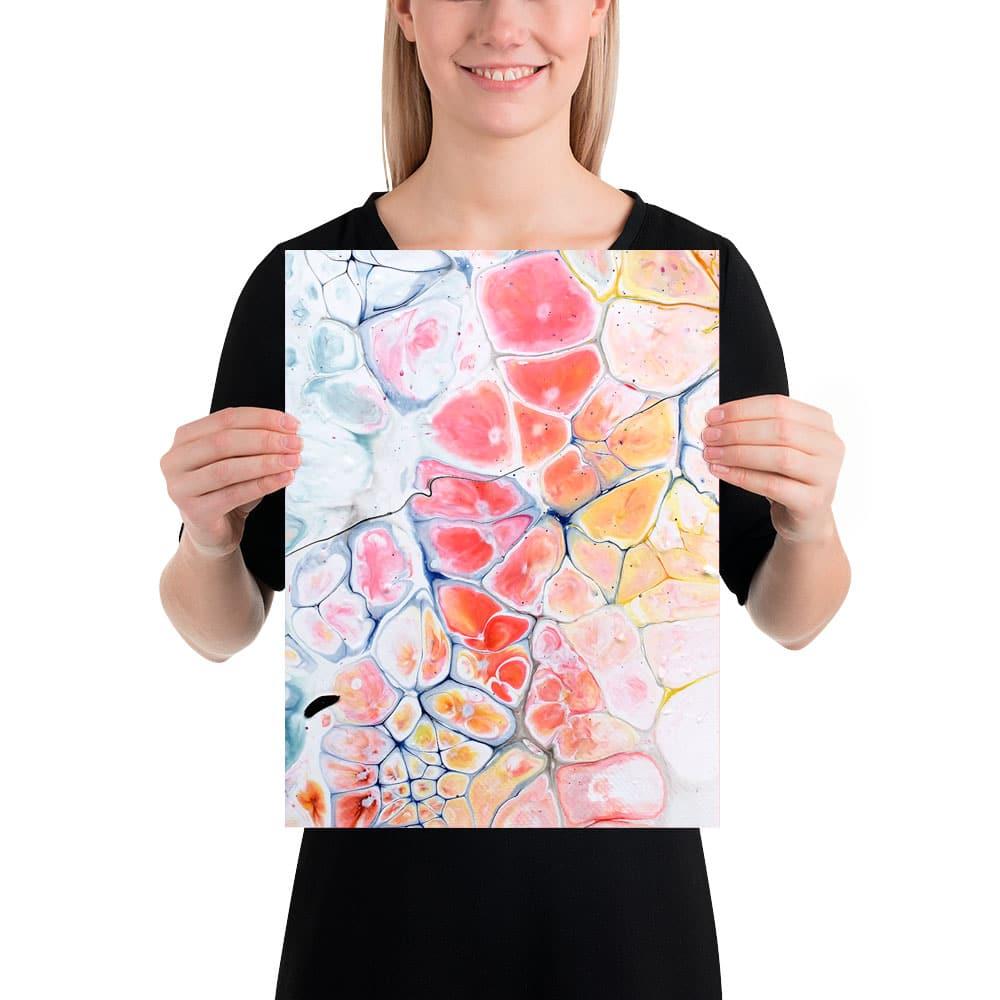 Små moderne kunstprint til din væg med billedcollage Elevation III 30x40 cm