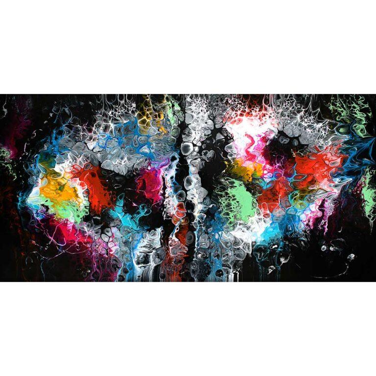 Maleri tryk på lærred er smuk moderne kunst til væggene i dit hjem Lights I 70x140 cm