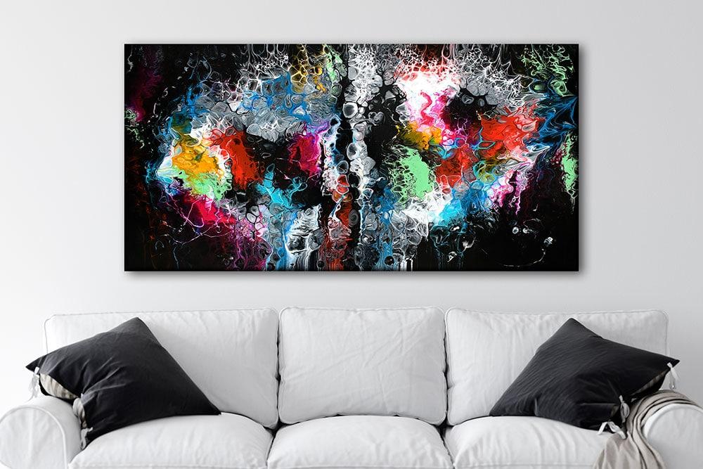 Tryk på lærred til væggen i stuen Lights I 70x140 cm