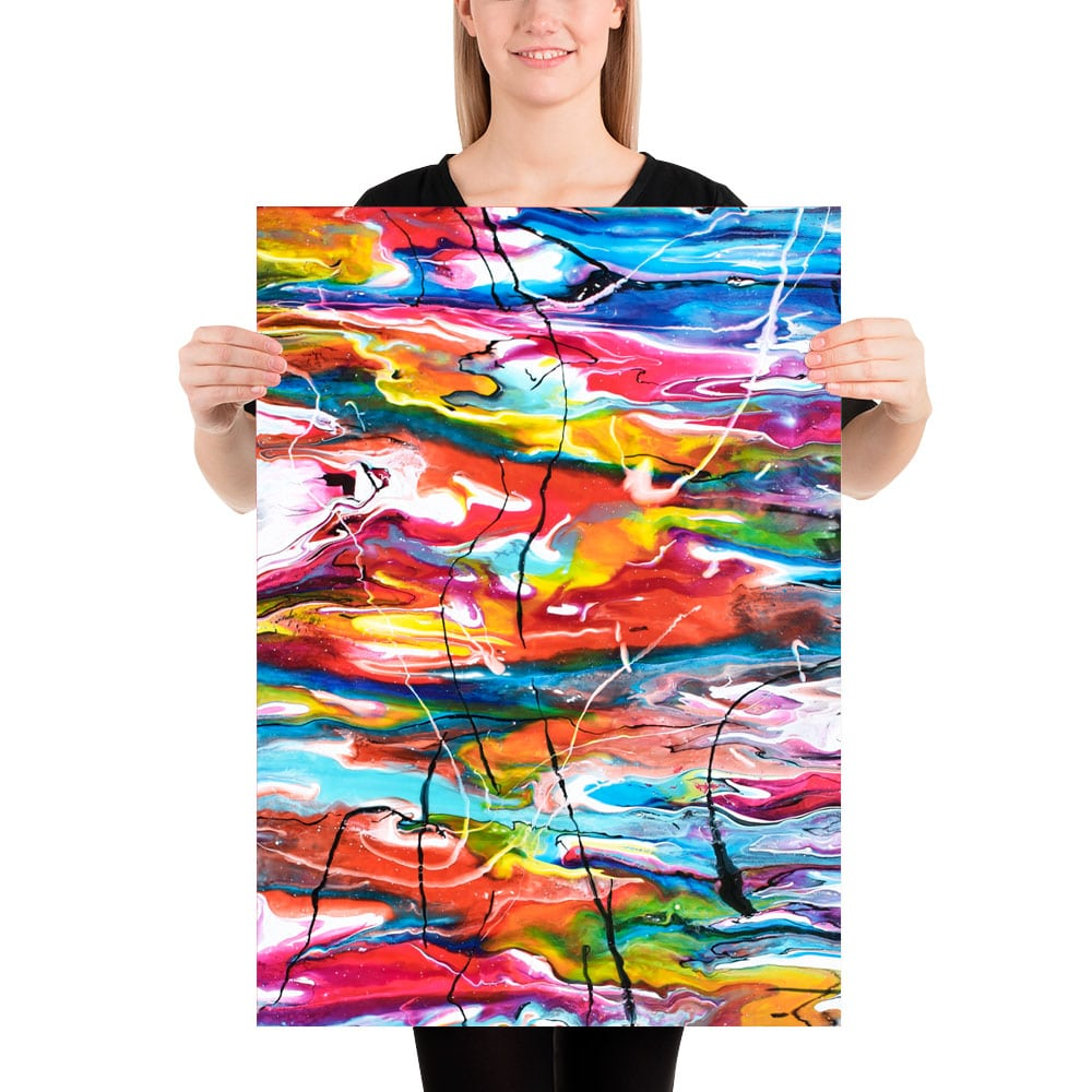 Unikke kunstplakater i moderne farver Heroic III 50x70 cm
