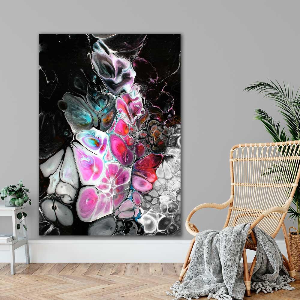 XXL fine art print med abstrakt motiv i moderne stil Lights I 100x150 cm