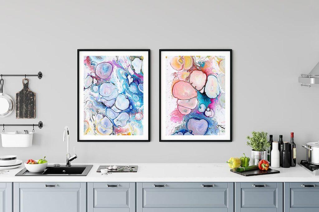 Kunst plakater til køkkenet