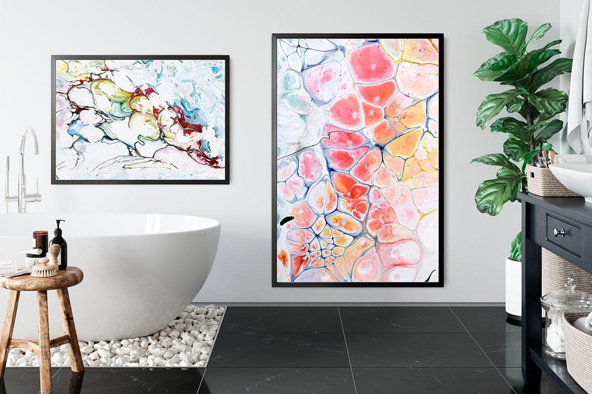 Kunstplakater til badeværelset