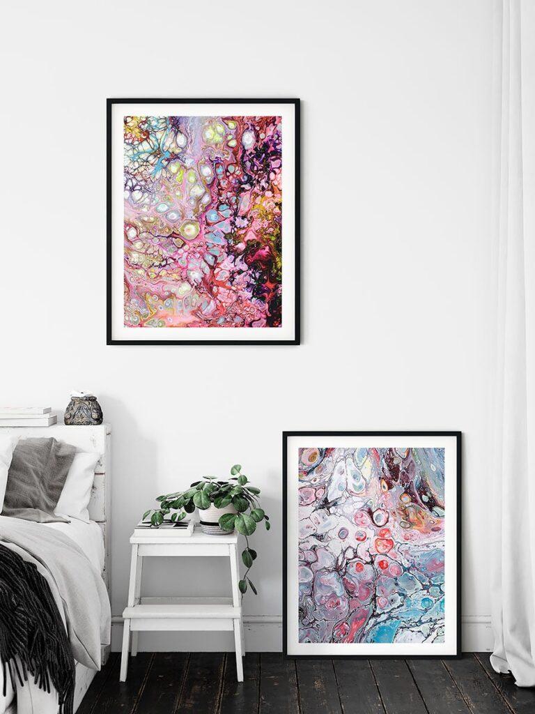 Kunstplakater til soveværelset