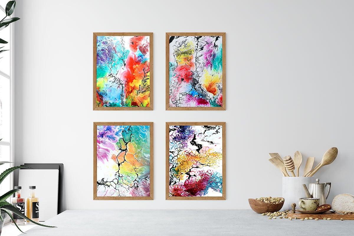 Plakater med kunst til køkkenet