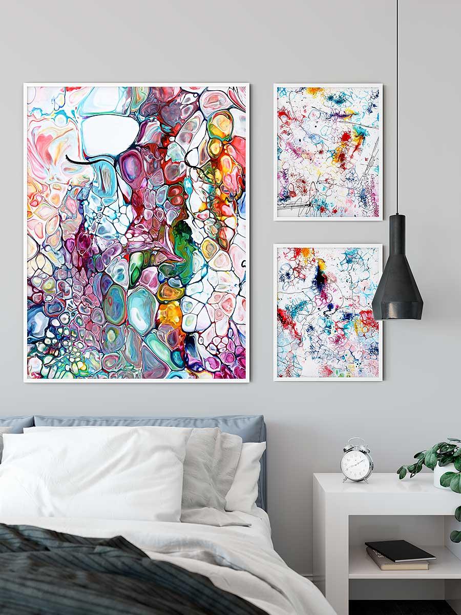 Plakater med kunst til soveværelset