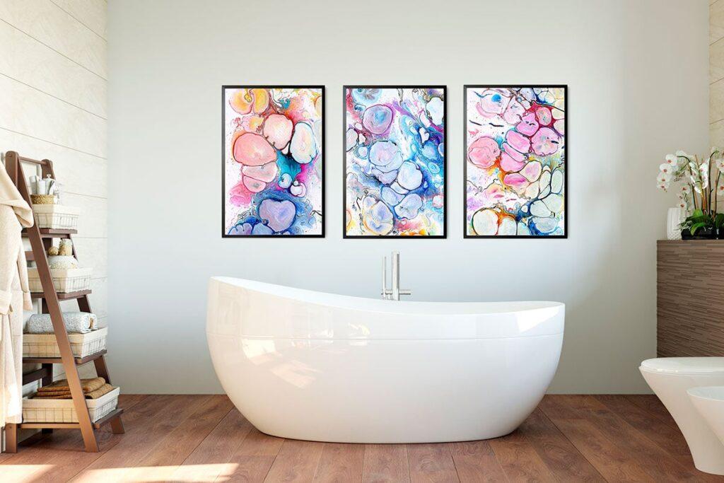 Store plakater til badeværelset
