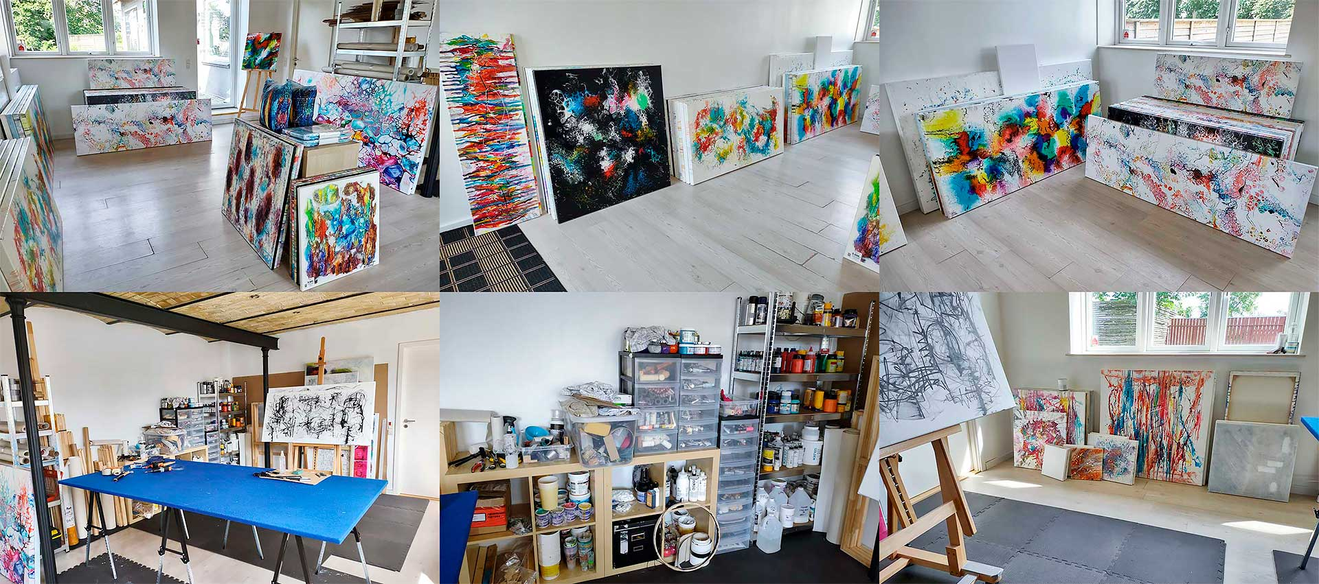 Galleri og atelier hos kunstner Michael Lønfeldt
