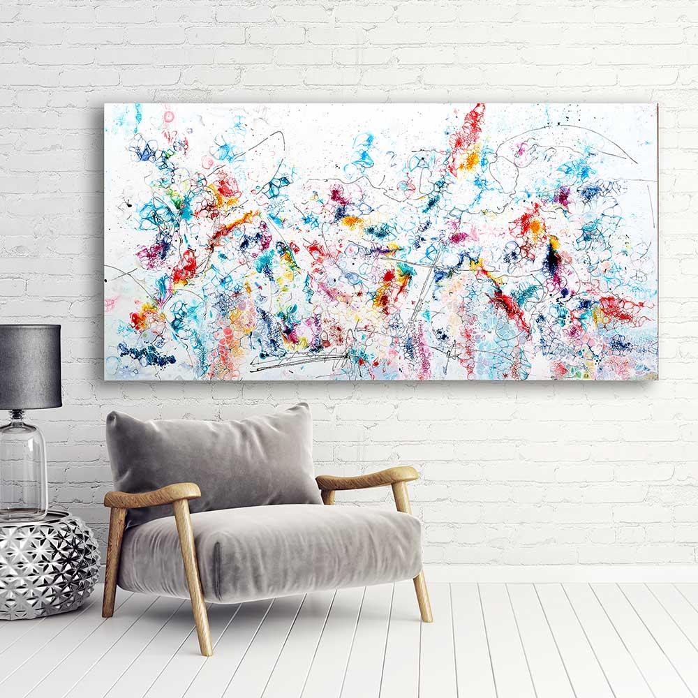Store malerier er flot kunst billeder til væggen i stuen