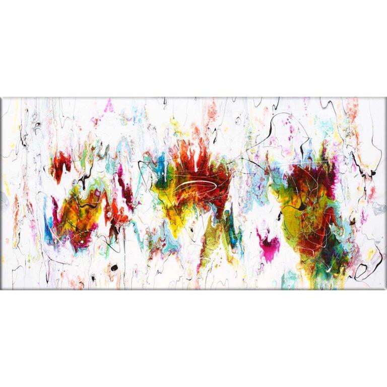 Eksklusivt kunstbillede på lærred i et tidsløst abstrakt design Alliance II 70x140 cm